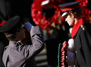 Remembrance Sunday: Prince Harry prepares to lay a wreath