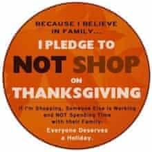 No Thanksgiving shopping Facebook