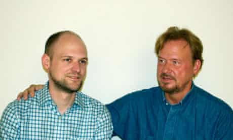 Reverend Frank Schaefer and his son Tim. Schaefer faces a church trial in south-eastern Pennsylvania