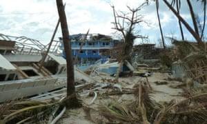 The destruction wrought on Malapascua island, Cebu.