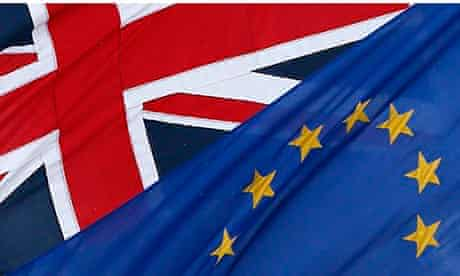 The EU and the Union flags