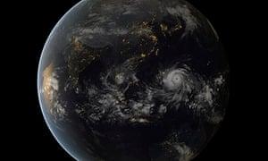 Typhoon Haiyan satallite image