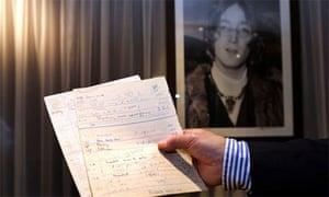 John Lennon documents for sale