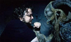 Director Guillermo del Toro on the set of Pan's Labyrinth