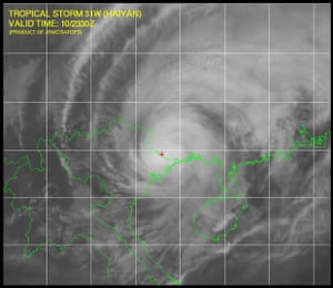 Haiyan had made landfall in China at midday eastern time. The path of the storm took it around the Chinese island of Hainan and onto the Vietnamese coast. http://www.usno.navy.mil/JTWC/