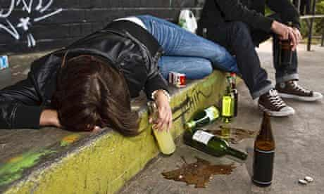 Teenagers drinking alcohol