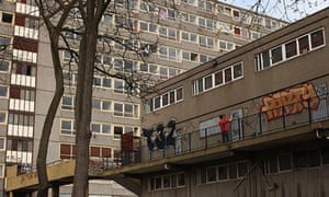 Derelict flats, Elephant and Castle