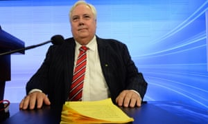 Member for Fairfax, Clive Palmer at the National Press Club in Canberra.