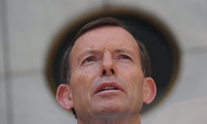 Tony Abbott at his first press conference in prime ministerial courtyard during this 44th Parliament.