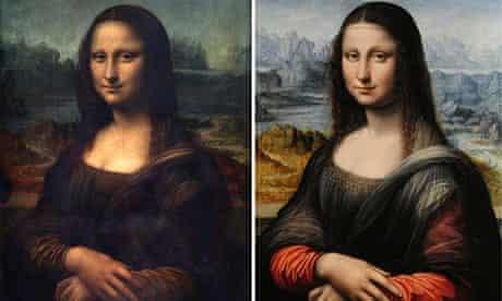 Mona Lisa Louvre original and copy