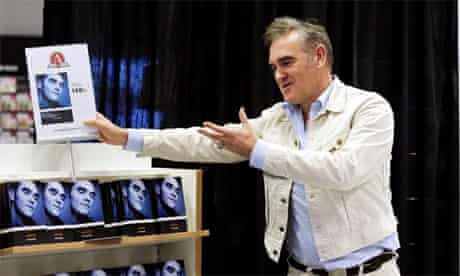 Morrissey at book signing
