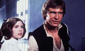 Princess Leia and Han Solo in Star Wars