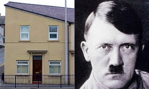 A house in Wales that bears a resemblance to Adolf Hitler.