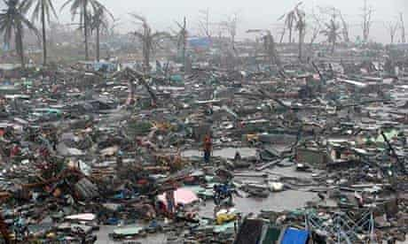 Debris and ruins in Tacloban city in central Philippines