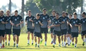 New Zealand football team train