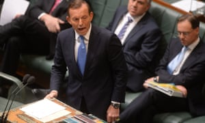 Tony Abbott tables the bill to repeal the carbon tax on Wednesday.