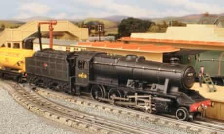 A Hornby steam engine train model