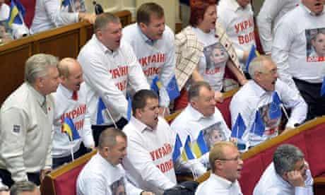 Ukrainian politicians back Yulia Tymoshenko