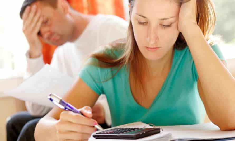 finance troubles credit couple