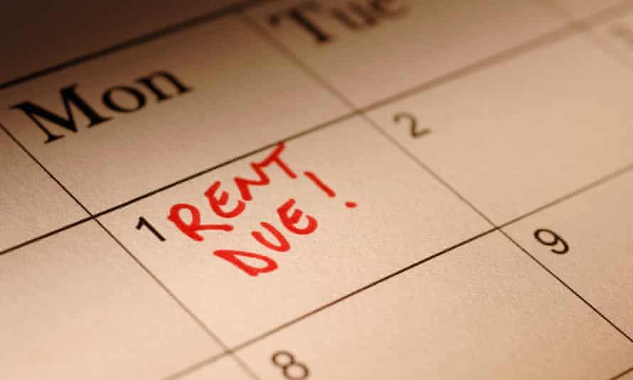 rent due calendar mark