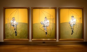 Three Studies of Lucian Freud', by Francis Bacon, sold for a record price.