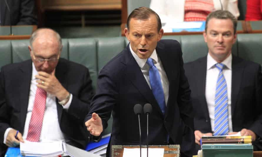 Prime Minister Tony Abbott speaks at Parliament House in Canberra.