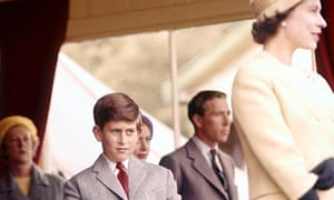 Prince Charles and Queen Elizabeth II at the Braemar Highland Games