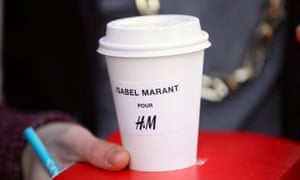 Coffee! Ahead of the Isabel Marant collection going on sale at H&M Regent street
