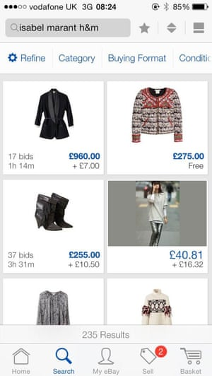 Items from the collection are already on eBay...