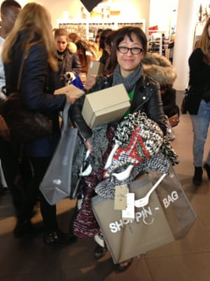 H&Mplog Retail restraint (!) at the Isabel Marant sale at H&M