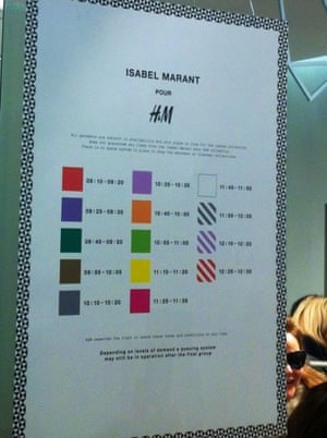 Time slots for Isabel Marant groups