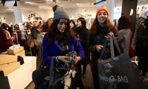Customers at the Isabel Marant sale at H&M in Regent St