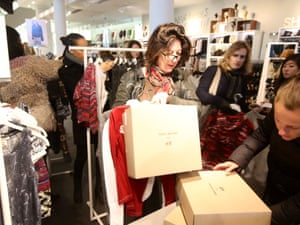 Customers at the Isabel Murant sale at H&M in Regent Street