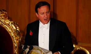 David Cameron delivers speech at lord mayor's banquet