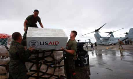 US aid for typhoon Haiyan