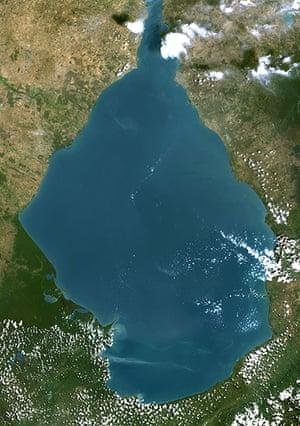 Nature reserves: Satellite Lake Maracaibo, Venezuela