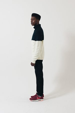 All Ages: black white long sleeved knitted jumper