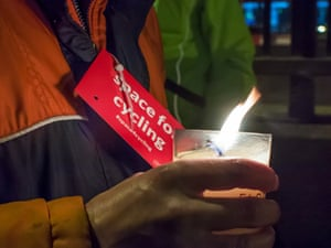 Bow roundabout vigil to protest death of cyclist