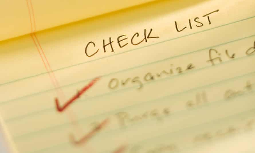 checklist credit score financial