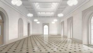 Caruso St John: Artist's impression of the new Tate Britain Grand Saloon