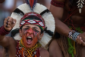 Indigenous Games: A Pataxo Indian celebrates