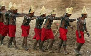Indigenous Games: Members of Brazilian indigenous ethnic group Xerente