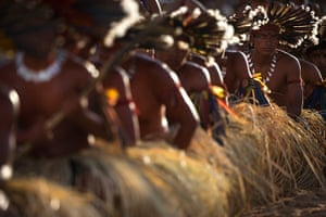 Indigenous Games: Bororo Indians perform a traditional ritual
