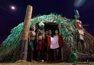 Indigenous Games: Members of Peruvian indigenous ethnic group Haranbut