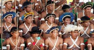 Indigenous Games: Members of Brazilian indigenous ethnic groups