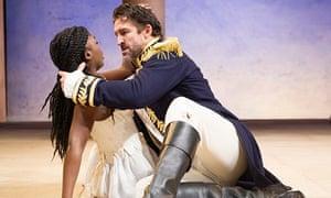 Jonathan Cake and Joaquina Kalukango in Antony and Cleopatra