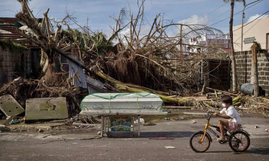 Devastation after typhoon Haiyan in Tacloban