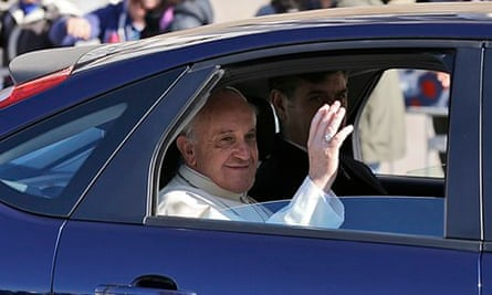 Pope Francis in Ford Focus