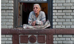 Older woman in South Bronx New York