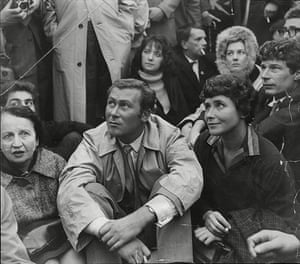 Doris Lessing obit: Doris Lessing with John Osborne in 1961 along with Lady Read (left) and Sheila Delaney with Vanessa Redgrave (rear)